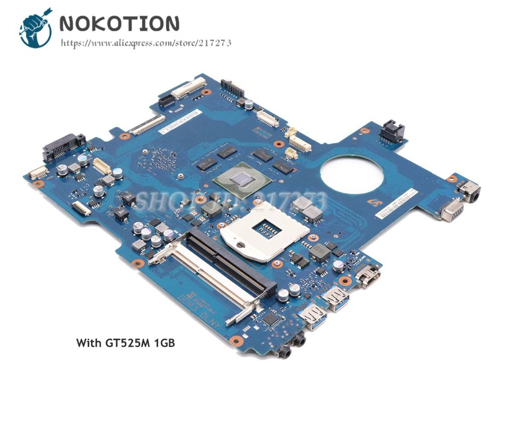 все цены на NOKOTION For Samsung RC420 RC520 RC720 RC512 Laptop Motherboard HM65 GT525M 1GB BA92-07642A BA92-07642B BA92-08137B BA41-01481A онлайн