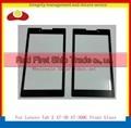 """Alta calidad 7.0 """"para lenovo tab 2 a7-30 a7-30hc panel lente de cristal delantera exterior de cristal negro libre del envío + código de seguimiento"""