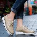 Женщины Платформа Оксфорды Brogue Квартиры Обувь Из Натуральной Кожи Острым Носом Лианы роскошные Женщины Обувь beige красный Черный Розовый ML10