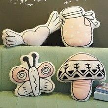 Ангел, Бабочка, гриб, кактус в виде клубники, вишня, супер мягкая няня декоративная подушка для скандинавского стиля детские комнаты