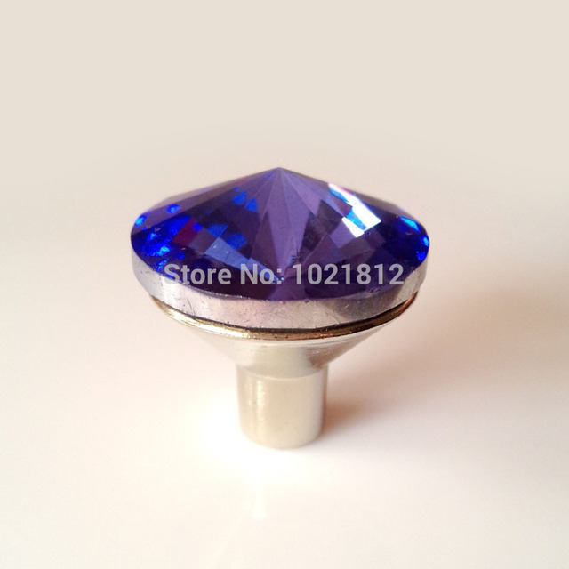 10pcs 25mm Blue Glass Cabinet Knobs Cabinet Cupboard Closet Drawer Knobs  Handles Pulls Kitchen Handle Satellite