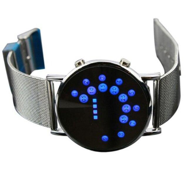 6107b21a3637 Círculo azul reloj de pulsera para Hombre Relojes de Hombre 2019 deportes  hombres LED Dgital Relojes