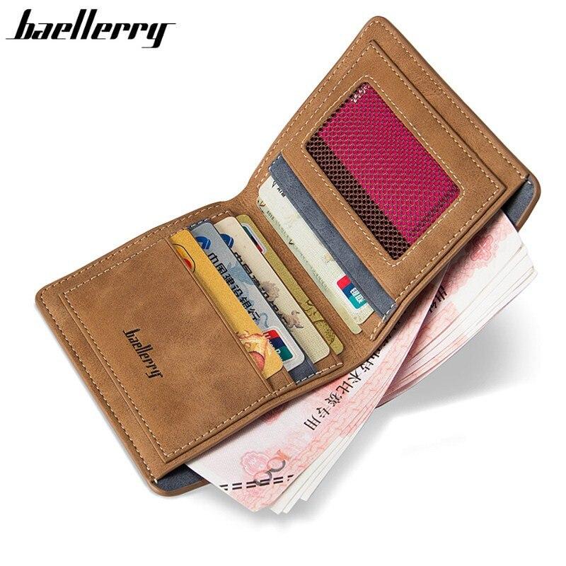 Wallet Money-Bag Credit-Card-Holder Vintage-Style Male High-Quality Soft Men Purse