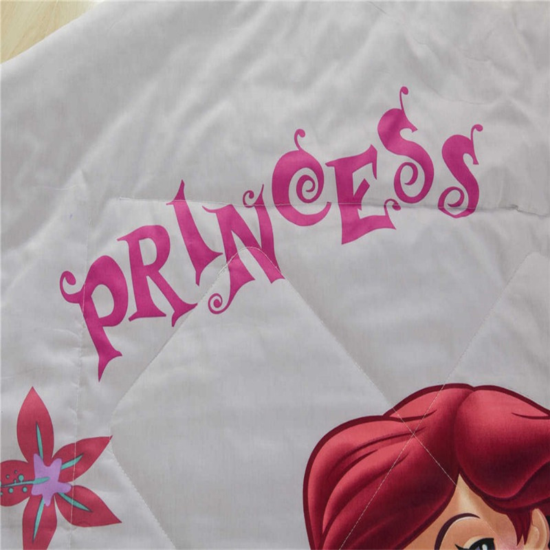 Disney Ariel Mermaid Princess Print Blanket Quilt Bedding for Girls Baby Bedroom Decor Twin Queen Size in a variety of styles in Blankets from Home Garden