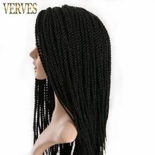 VERVES Омбре вязанные косички 1 упаковка, 30 прядей/Упаковка 18 '', маленькие Сенегальские крученые волосы синтетические плетеные волосы для наращивания