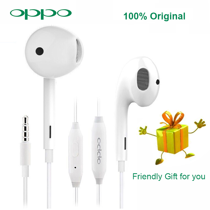NEW OPPO R11 Earphone Storage Box Frinedly Gift With 3.5mm Plug Wire Controller Headset For OPPO R15 OPPO Find X F7 F9 OPPO R17