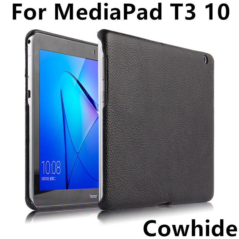 Case Cover Cowhide For Huawei MediaPad T3 10 Honor Play Tablet 2 Protective Protector Genuine Leather AGS-W09 AGS-L09 T310 9.6 folio slim cover case for huawei mediapad t3 7 0 bg2 w09 tablet for honor play pad 2 7 0 protective cover skin free gift