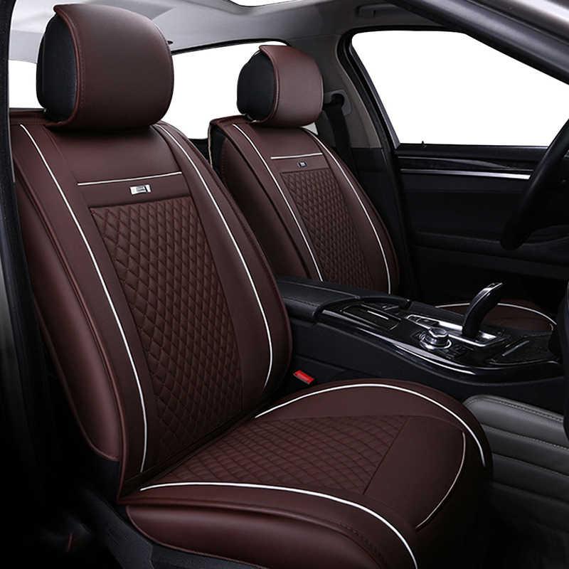 革カーシートカバートヨタカローラ RAV4 ハイランダー PRADO Yaris プリウスカムリフロントとバックの完全なセット車のクッションカバー