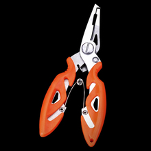 WALK FISH 1PCS Stainless Steel Fishing Pliers with package 3 Colors Scissors Line Cutter Remove Hook Fishing Tackle Tool