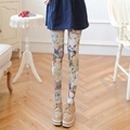 Cute cartoon animation bear pantyhose Girl printing stockings Spring velvet tights thin section