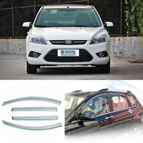 4 unids Nueva Ahumado Claro Ventana Vent Shade Visor Carenados Para Ford Focus