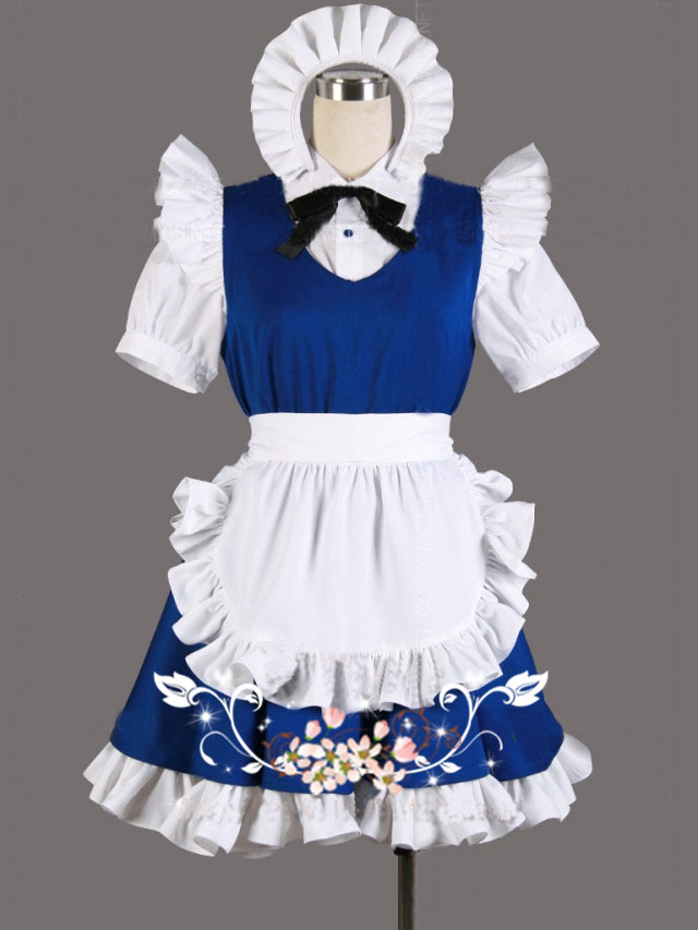 Project Izayoi Sakuya Lolita Cosplay Halloween Costume Custome Made Free Shipping