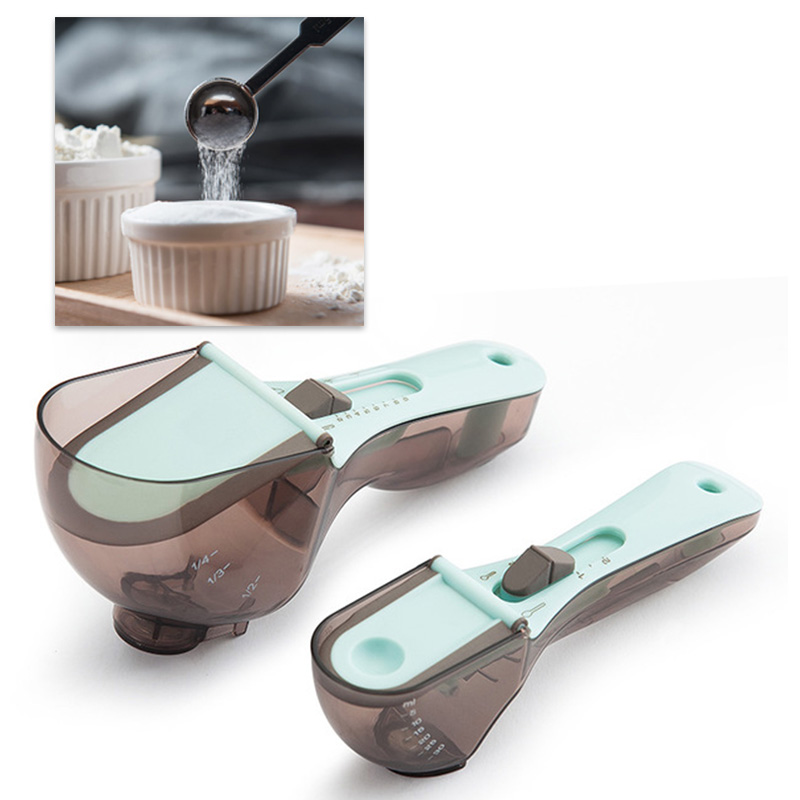 2PC/SET Household Measuring Spoon For Baking Coffee And Tea Kitchen Baking Tool Accessories L/S Two Size Labor Saving|Measuring Spoons|   - AliExpress