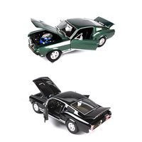 1 18 Ford 1967 Mustang GTA Fastblack Car Black And Green Zinc Alloy Car Model Diecast