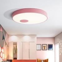 Modern Ceiling Lamp Nordic Living Room Ceiling Light Acrylic Bedroom Lamp LED Circular Art Ceiling Lamps Office Macaron Light