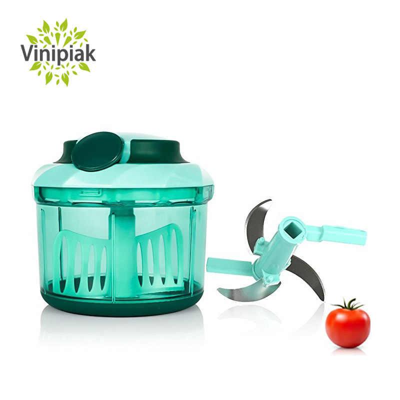 Picadora de Alimentos Grande Capacidade de Tração Manual da Mão Slicer Cozinha Picador de Cebola Alho Vegetal Liquidificador BPA Livre