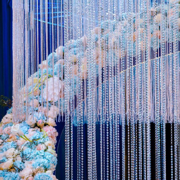 Image 5 - 1000pcs Beads + rings Acrylic crystal garland, Acrylic Crystal Prisms Octagonal Beads Lamp Chandelier Parts Pendant Decoration-in Portable Lighting Accessories from Lights & Lighting
