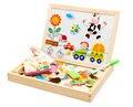 Los niños de Juguete Juguetes De Madera Multifuncional Rompecabezas Magnético Tablero de Escritura de Dibujo Doble Caballete Juguetes Para Niños 66