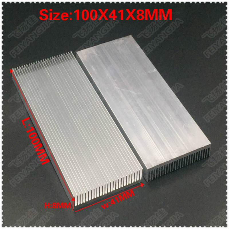 1 PCS 100x41x8mm Aluminum Radiator Heat Sink Heatsink for Computer LED Amplifier IC Transistor Computer Memory Heatsink 10pcs aluminum heatsink transistor radiator with needle for transistors to 220 z09 drop ship
