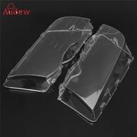 2Pcs Transparent Car Housing Headlight Lens Shell Cover Lamp Assembly For BMW E46 3 Series 4DR
