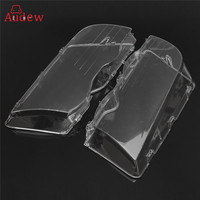 2Pcs Transparent Car Housing Headlight Lens Shell Cover Lamp Assembly For BMW E46 3 Series 4DR