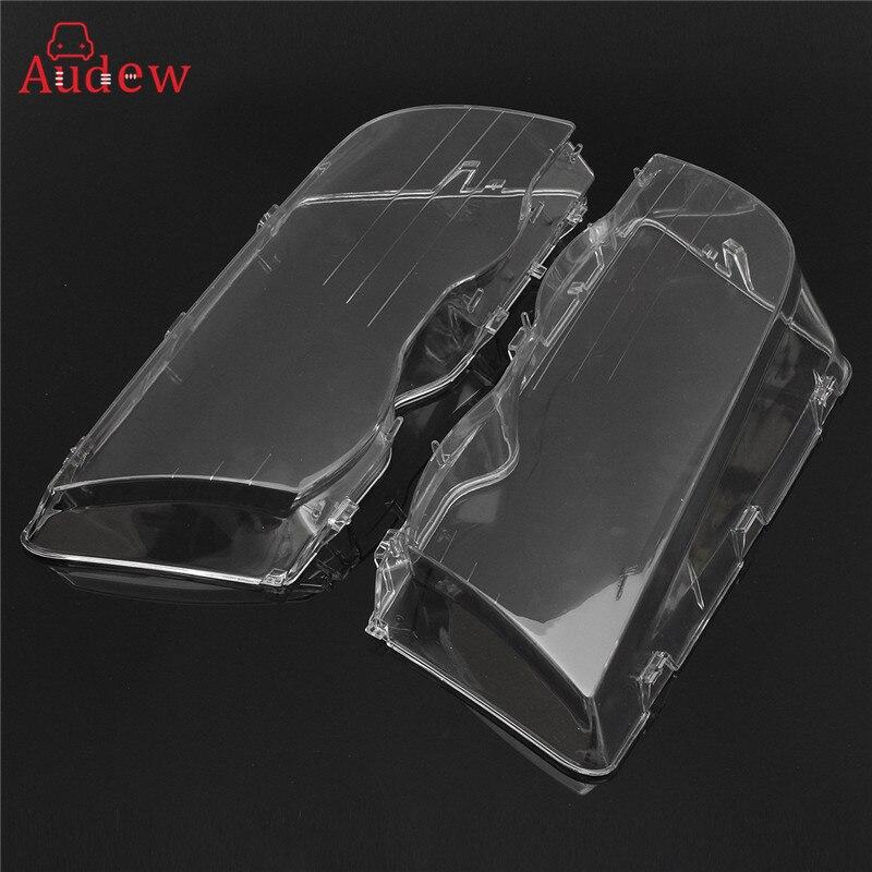 2Pcs Transparent Car Housing Headlight Lens Shell Cover font b Lamp b font Assembly For BMW