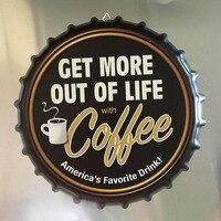 35 см Ретро пивная Кепка плакат кофе Кола металлическая Оловянная настенная вывеска кафе, бар, Паб декор для стен в винтажном стиле ностальги...