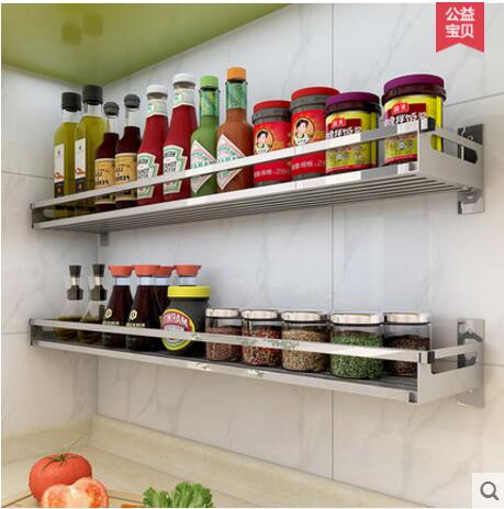 Charmant The Walls Of Stainless Steel Kitchen Shelves Are Covered With Seasoning In  Storage Holders U0026 Racks From Home U0026 Garden On Aliexpress.com | Alibaba Group