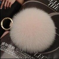 Real fox fur ball pendant fur bag hanging decoration big hair ball jewelry hair mobile phone car key ring plush jewelry female