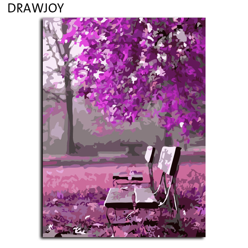 Frameless Wall Art Picture Painting By Numbers DIY Canvas