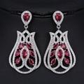 Julie 4 cores luxo brincos pendurados para as mulheres zircão cúbico grande geométrica brincos top quality de jóias de luxo para a festa de casamento