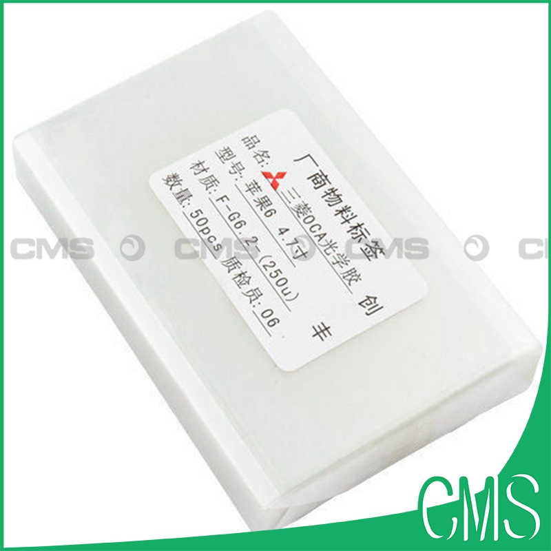 imágenes para 50 unids/pack Reformado Pantalla LCD OCA Pegamento Adhesivo de Doble Cara pegatina Para el iphone 7 6 6 S Plus 5S 4S 250um de espesor