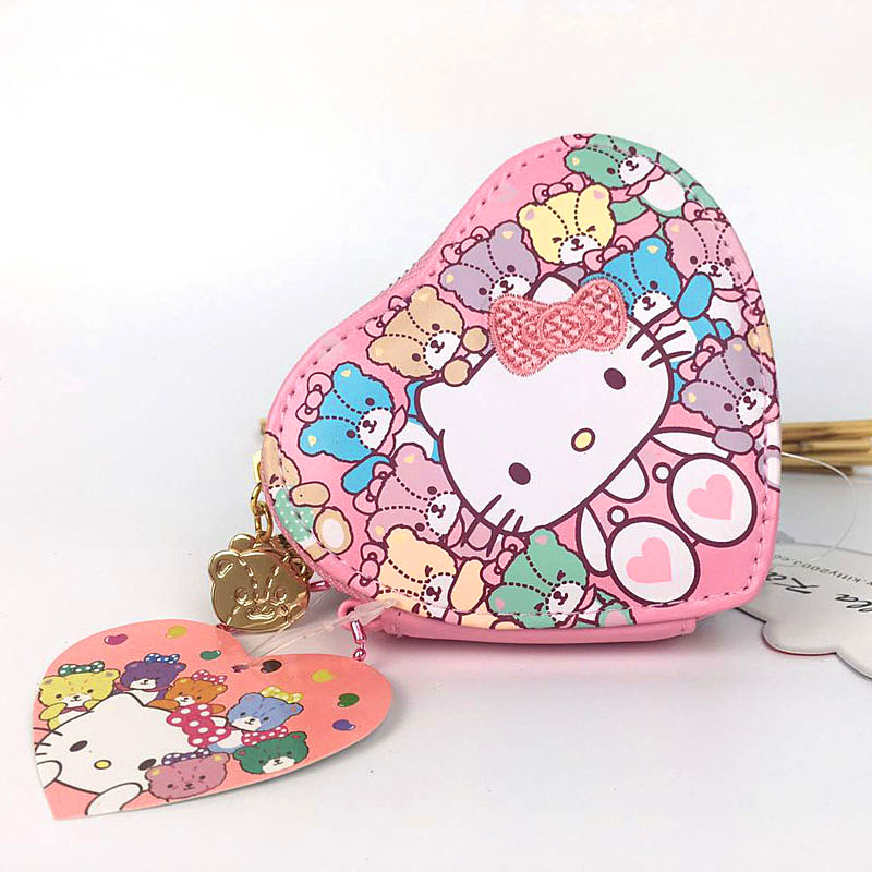 Hello Kitty Women Coin Purse Fashion Cartoon Cute Cat Wallet For Girls High quality PU Small Case Bag Money Pouch Change Purse