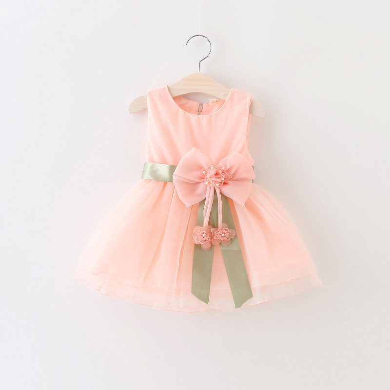 afbf419b 2017 Baby Girls Dress Big Bowknot Infant Party Dress For Toddler Girl First  Brithday Baptism Clothes Double Formal Tutu Dresses-in Dresses from Mother  ...