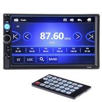 2 Din Car Video Player 7 HD Bluetooth Rear View Camera Stereo FM Radio MP3 MP4