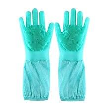 Дропшиппинг Волшебные Силиконовые Rubbe блюдо моющиеся перчатки Экологичные щетка для мытья посуды для Многоцелевой Кухня кровать ванная комната