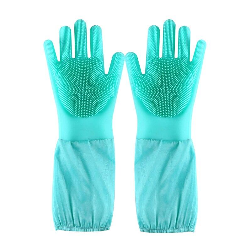 Dropshipping Magie Silikon Rubbe Dish Waschen Handschuhe Umweltfreundliche Wäscher Reinigung Für Mehrzweck Küche Bett Bad
