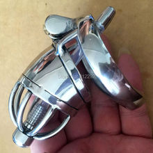 Male Chastity Device Adult Cock Cage With Urethral Catheter BDSM Sex Toys Stainless Steel Chastity Belt