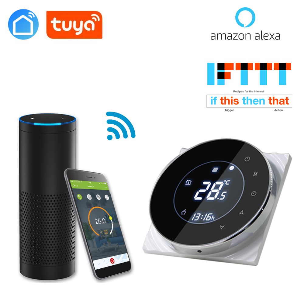 Tuya App WiFi Intelligent Thermostat Temperature Controller For Electric Floor Heating With Alexa Google Home