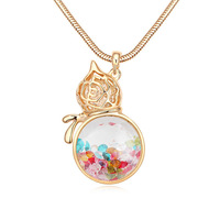 Antique Vintage Women Jewelry New Arrival Fashion Gourd Pendant Necklaces Czech Crystals Long Necklace For Woman