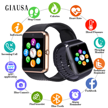 Купить с кэшбэком Wireless Smart Watch Men GT08 With Touch Screen Big Battery Support TF Sim Card Camera For IOS iPhone Android Phone