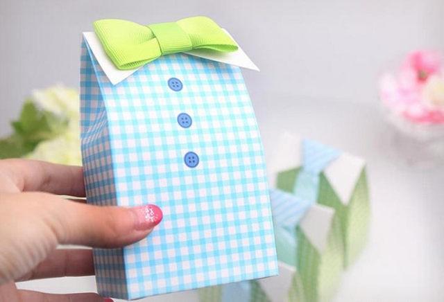 Online Shop 20pcslot My Little Man Bow Tie Birthday Boy Baby Shower