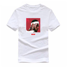 Brand Fashion Hip Hop White T-shirt Men 2018 King Lebron James Print Basket ball Jersey Cool Tees