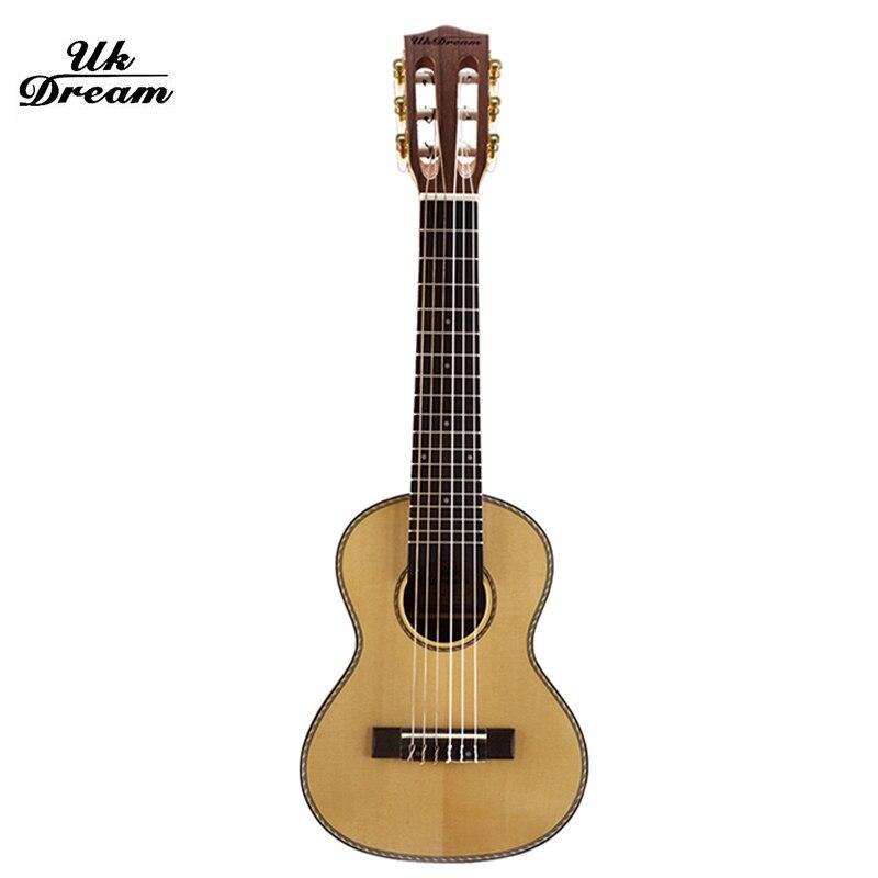 28 pulgadas seis cuerdas acústica Guitarras Ukuleles madera clásica ...