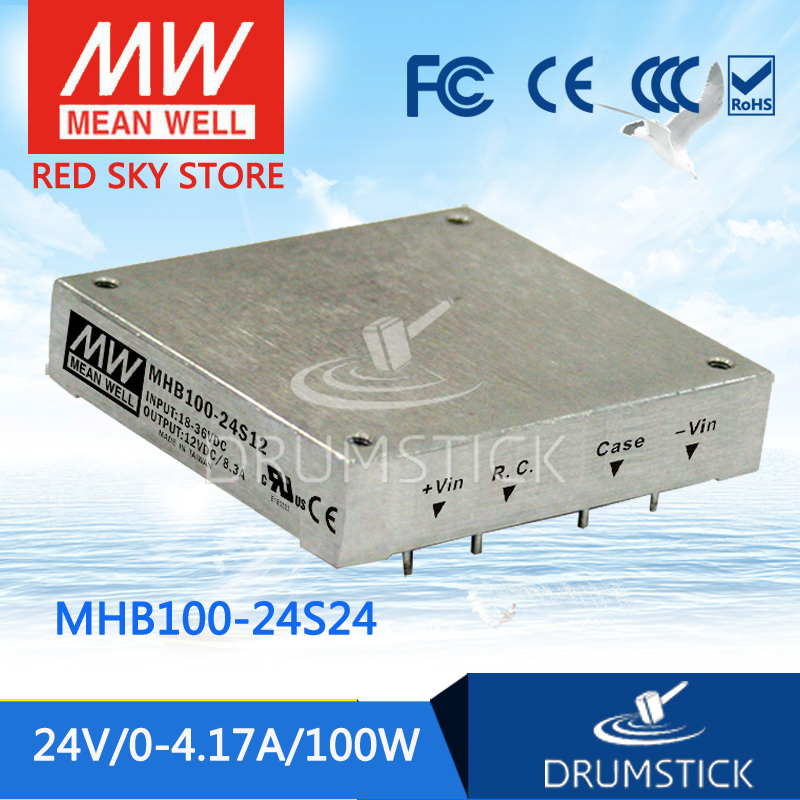 Genuine MEAN WELL MHB100-24S24 24V 4.17A meanwell MHB100 24V 100W DC-DC Half-Brick Regulated Single Output Converter