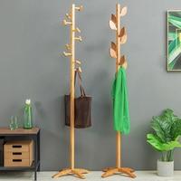 Hot 100% Natural bamboo coat rack Fashionable design style 9 hooks wooden furniture living room furniture living room decoration