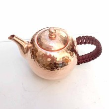 Copper Teapot FILTER Handmade Good-Quality 300ml Red Authentic