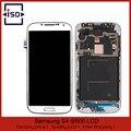 5 pçs/lote branco de alta qualidade para Samsung Galaxy i9500 S4 Display LCD Touch Screen digitador com quadro por DHL