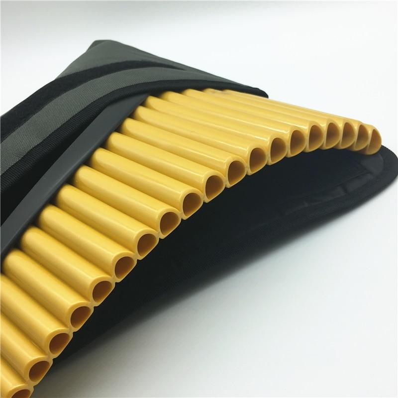 Haute qualité 22 tuyaux PanFlute avec Base G clé ABS plastique roumanie Pan flûte Instrument de musique accordable Panpipes Flauta vente en gros - 2
