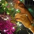 2 M/3 M/5 M/10 M LEVOU fio de Prata/Fio de Cobre Da Bateria 3AA Operado Fada Luz LED String para Festa de Casamento Decoração Do Feriado Do Natal